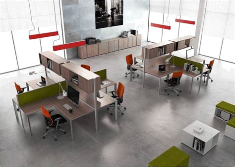 bureau en open space bureaux postes de travail materic agencement et