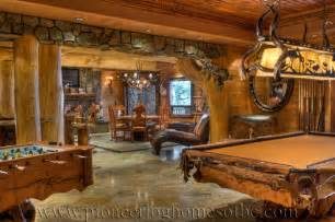 log home interiors bars and rooms log home and cabin interiors pioneer log homes of bc
