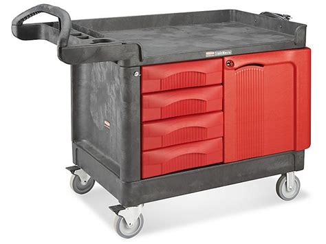 Rubbermaid® Trademaster® Cart With Cabinet Linoleum Wood Flooring Cost Stores West Palm Beach Types Of Australia Kitchen Granite Rubber Warehouse Bamboo Price Per Square Foot Mohawk Distressed Oak Hardwood Ebay
