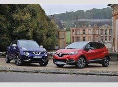 Essai Comparatif Nissan Juke vs Renault Captur les