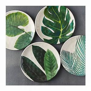 Peinture Sur Mélaminé : tropical foliage melamine plate 595 php liked on polyvore featuring home and kitchen dining ~ Melissatoandfro.com Idées de Décoration