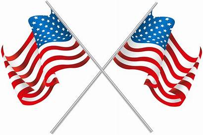 Flag Flags American Clip Clipart Usa Crossed