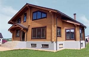 Maison En Rondin : maison r sidentiel en gros rondins avec joli jardin d ~ Melissatoandfro.com Idées de Décoration