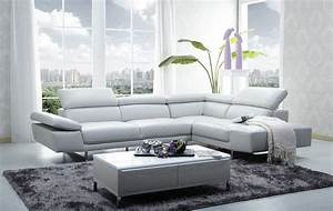 1717 leather sectional sofa in light grey color by jm With rooms to go gray leather sectional sofa