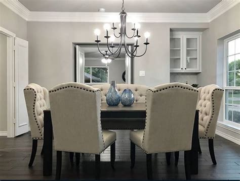 dining room walls repose gray sw  trim pure