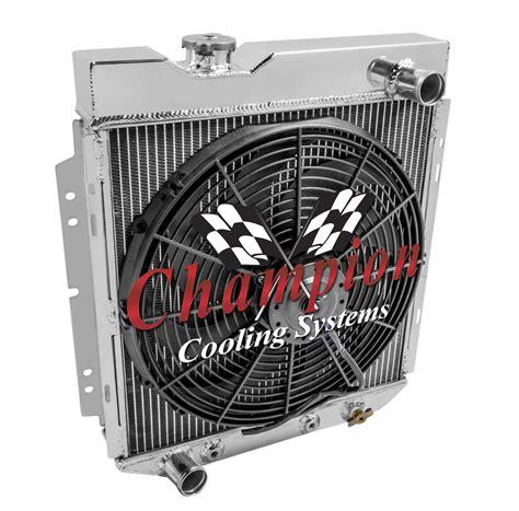 mustang radiator fan not working 1965 1966 ford mustang aluminum radiator 4 row fan ebay