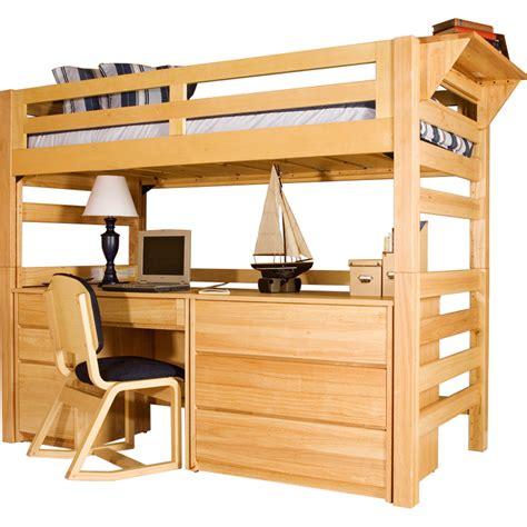 twin loft bed with desk university loft graduate series twin xl open loft bed