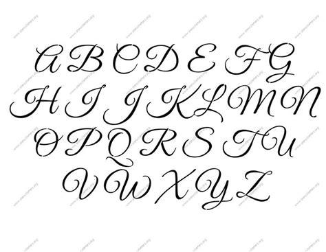 elegant calligraphy    uppercase letter stencils