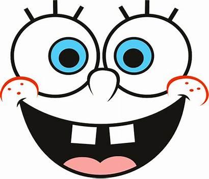 Spongebob Face Cartoon Squarepants Clipart Eyes Drawing