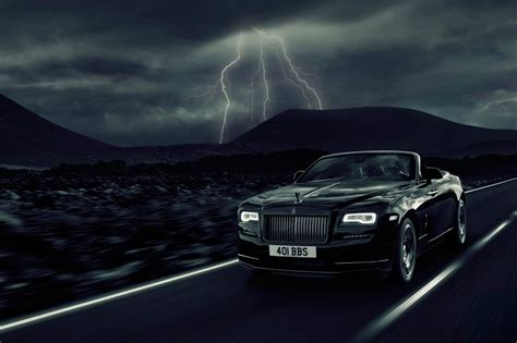 vauxhall convertible dark night rises rolls royce dawn black badge revealed at