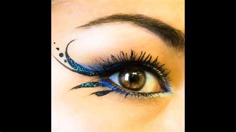 glitter gorgeous simple liner blue irises nyx youtube