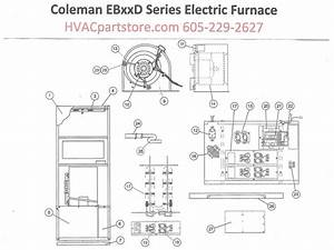 Eb20d Coleman Electric Furnace Parts  U2013 Hvacpartstore