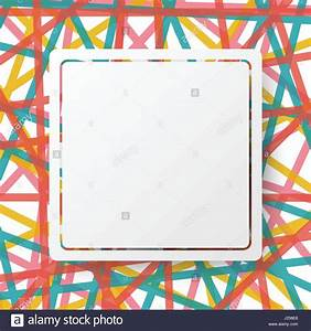 White square board and border on colorful line abstract ...