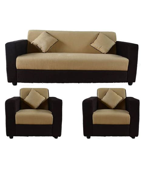 Sofa Sets Junglee by Westido Thar Brown 3 1 1 Seater Sofa Set Buy