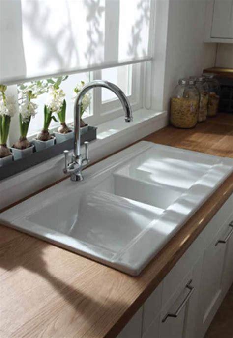 drainer ceramic kitchen sinks abode tydal 1 5 bowl reversible white ceramic inset 8804