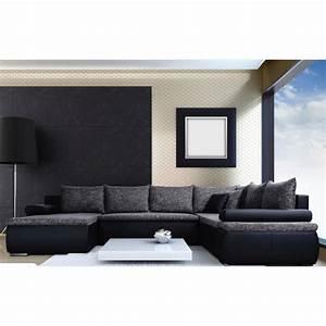 Canapé Convertible Panoramique : canap d 39 angle panoramique convertible en lit cesaro u ~ Teatrodelosmanantiales.com Idées de Décoration