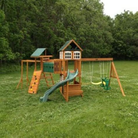 Big Backyard Hillcrest by Big Backyard Hillcrest Playset From Toys R Us Installed In