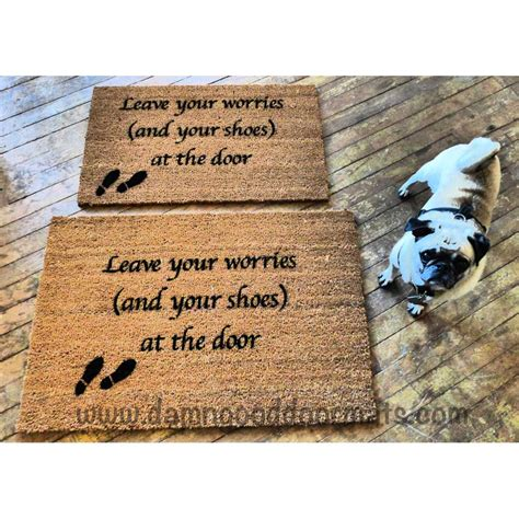 No Shoes Doormat by Script Leave Your Worries And Your Shoes At The Door