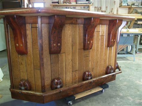kitchen island with corbels crafted rustic bar by of wood
