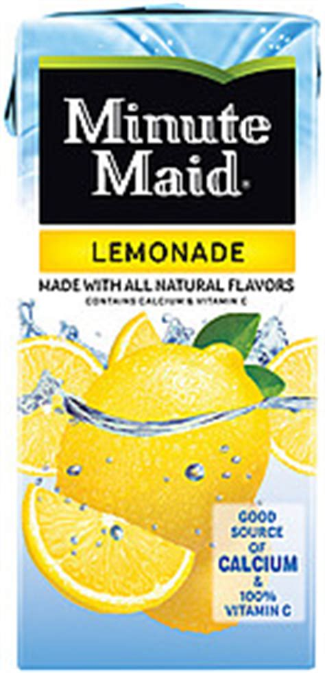 minute maid light lemonade nutrition facts minute maid ingredients pictures to pin on pinterest