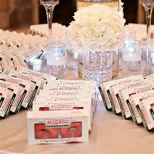 wedding favor ideas fyi the knot With krispy kreme wedding favors