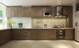 Modern brown kitchen design for Modern brown kitchen design