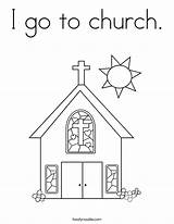 Church Coloring Go Noodle Twistynoodle Going Pages Twisty Printable Built California Usa sketch template