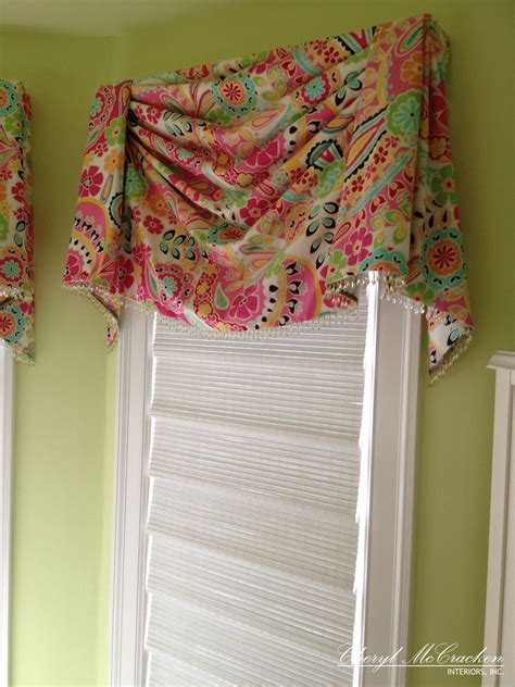 Bedroom Valances by Bedroom Board Mounted Swag Valance With Bead