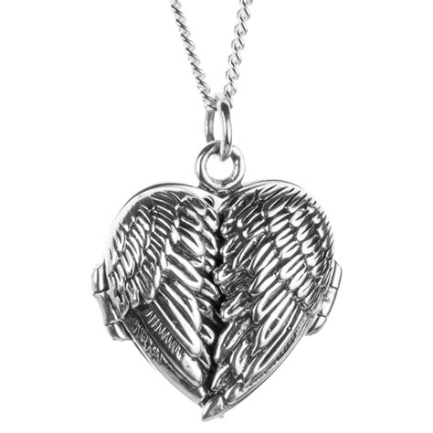 Ladies Shipton And Co Silver Angel Wings Heart Locket. 4ct Emerald. Color Rings. Sparkle Diamond. Purple Gold Necklace. Fused Glass Pendant. 4 Carat Diamond Stud Earrings. Basic Necklace. Jewellery Diamond