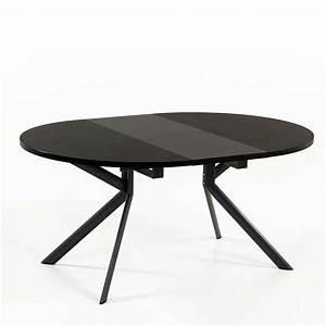 Table Ronde Extensible Design : finest table ronde en cramique noire extensible giove with table ronde extensible but ~ Teatrodelosmanantiales.com Idées de Décoration