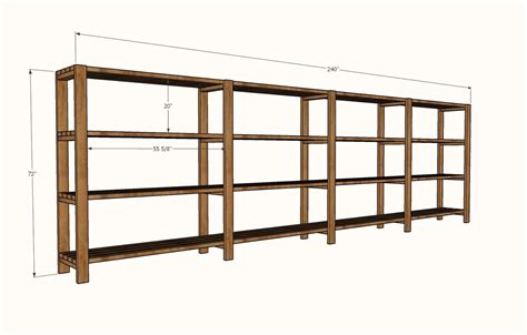 ana white easy economical garage shelving  xs diy projects