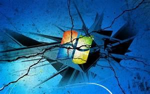 Windows 7 Wallpaper Broken Screen Wallpaper