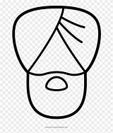 Turban Coloring Clipart Line Pikpng Complaint Copyright sketch template
