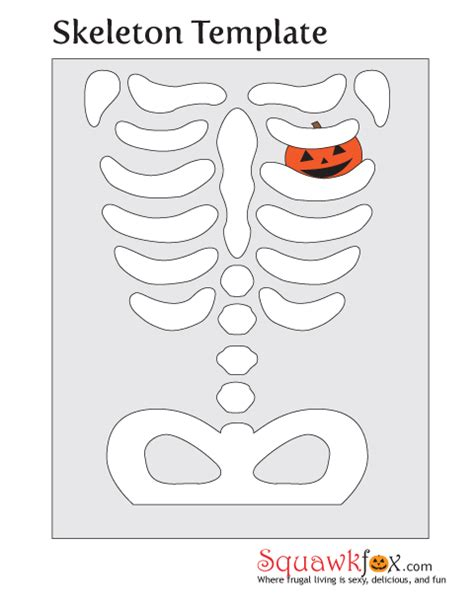 skeleton template make a last minute costume with an pillowcase squawkfox