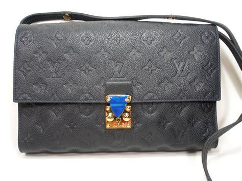 louis vuitton monogram empreinte fascinante blue dark shoulder bag  stdibs