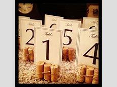 wine cork table number stands … wedding Pinte…