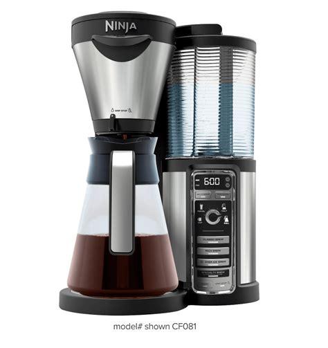hot to use coffee maker coffee maker ninja coffee bar 174 hot and iced coffee