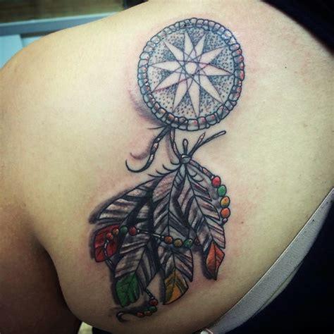 colorful dream catcher tattoo    uniquely