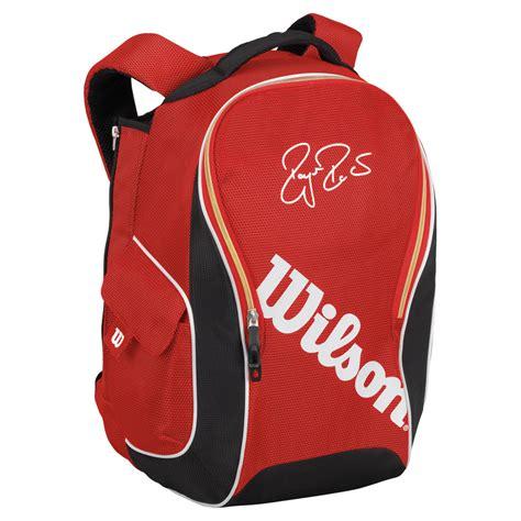wilson federer premium backpack tennis bag  padel gym travel walking blue ebay