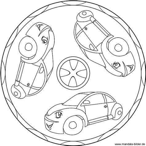 mandala ausmalbilder mit autos zum kostenlosen ausdrucken