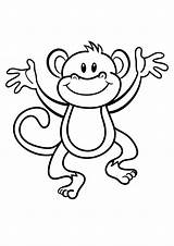 Coloring Pages Monkeys Printable Easy Monkey Printablecolouringpages Via sketch template