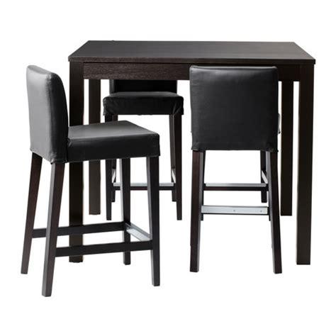 bjursta henriksdal bar table and 4 bar stools ikea
