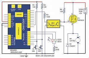 Dc Motor Starter Using Arduino Uno