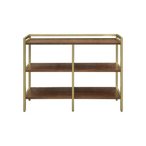 midcentury modern bookcase display shelf walnut wood gold bookcase midcentury modern vintage gold chelsea