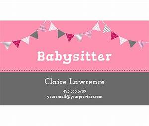 17 best images about babysitting syd scrapbook kit for Babysitting business cards templates free