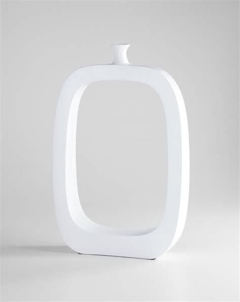 Large White Vase by Large White Resin Vase By Cyan Design