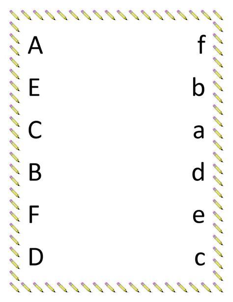 image detail  preschool matching worksheets upper