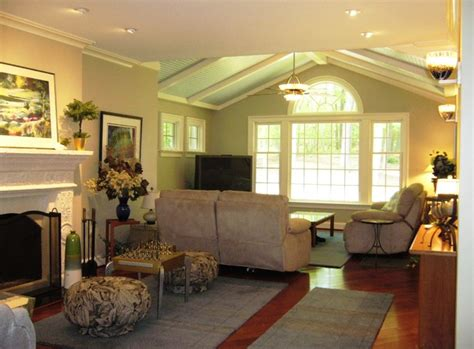 family room with blue beadboard ceiling lighting designs