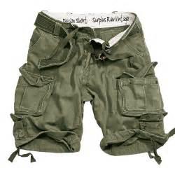surplus army combat division mens cargo shorts knee length