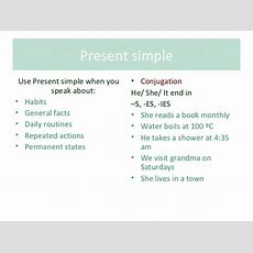 Present Simple Rules